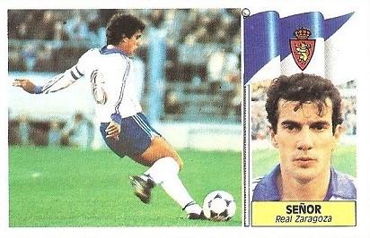 Liga 86-87. Señor (Real Zaragoza). Ediciones Este.