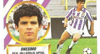Liga 88-89. Onésimo (Real Vallladolid). Ediciones Este.