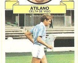 Liga 85-86. Atilano (Celta de Vigo). Ediciones Este.