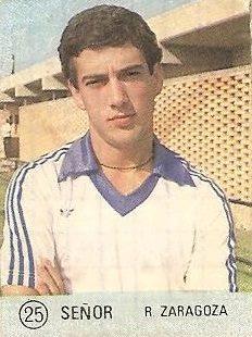 1983 Selección de Fútbol Liga. Señor (Real Zaragoza). Editorial Mateo Mirete.