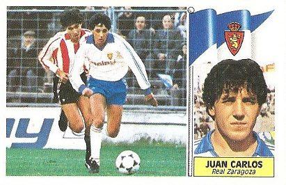 Liga 86-87. Juan Carlos (Real Zaragoza). Ediciones Este.