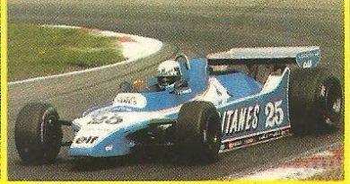 Grand Prix Ford 1982. Didier Pironi (Ligier). (Editorial Danone).