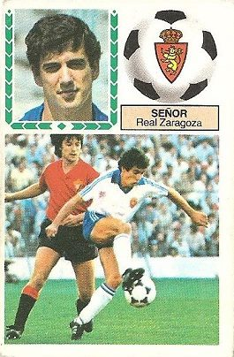 Liga 83-84. Señor (Real Zaragoza). Ediciones Este.