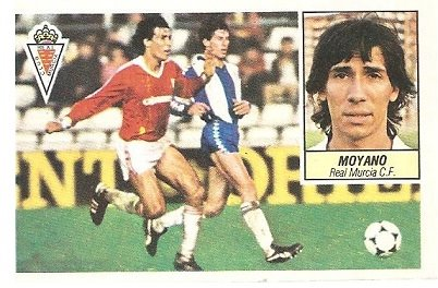 Liga 84-85. Moyano (Real Murcia). Ediciones Este.