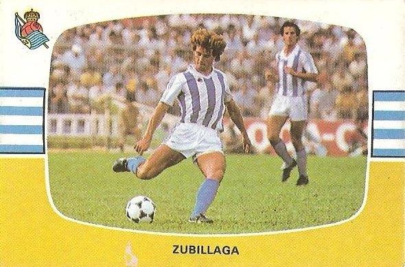 Liga 84-85. Zubillaga (Real Sociedad). Cromos Cano.