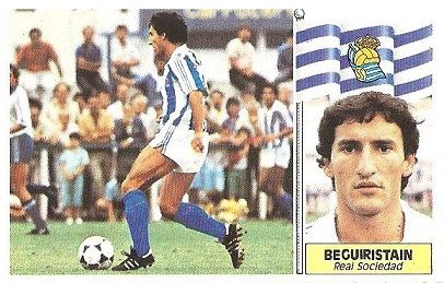 Liga 86-87. Beguiristain (Real Sociedad). Ediciones Este.