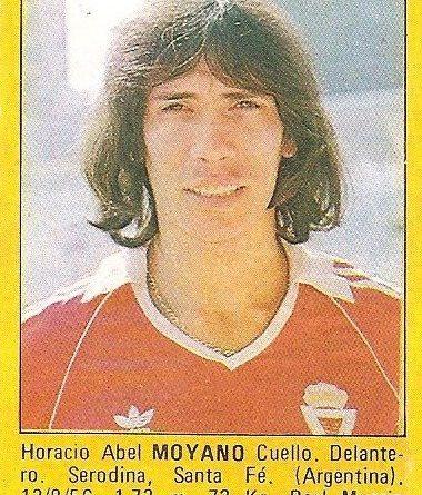 Super Fútbol 85. Moyano (Real Murcia). Super Cromos Rollán.