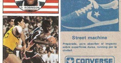 Baloncesto 1986-1987. David Robinson (Estados Unidos). Ediciones J. Merchante.