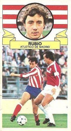Liga 85-86. Rubio (Atlético de Madrid). Ediciones Este.