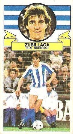 Fútbol 85-86. Campeonato de Liga. Zubillaga (Real Sociedad). Editorial Lisel.