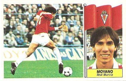 Liga 86-87. Moyano (Real Murcia). Ediciones Este.