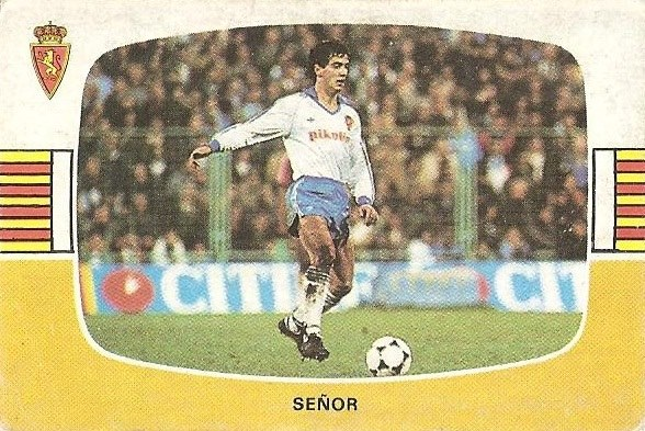 Liga 84-85. Señor (Real Zaragoza). Cromos Cano.