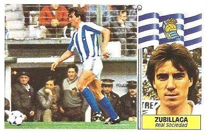 Liga 86-87. Zubillaga (Real Sociedad). Ediciones Este.