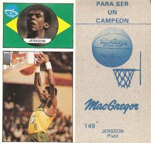 Baloncesto 1986-1987. Gerson (Brasil). Ediciones J. Merchante.