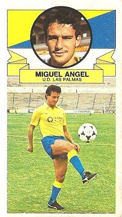 Liga 85-86. Miguel Ángel (U.D. Las Palmas). Ediciones Este.
