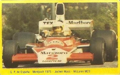Grand Prix Ford 1982 . Jochen Mass (McLaren). (Editorial Danone).