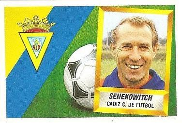 Liga 88-89. Senekowitch (Cádiz C.F.). Ediciones Este.