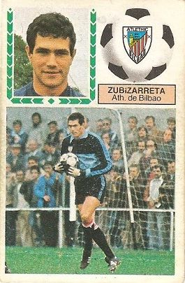 Liga 83-84. Zubizarreta (Ath. Bilbao). Ediciones Este.