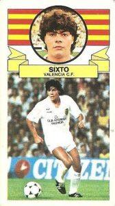 Liga 85-86. Sixto (Valencia C.F.). Ediciones Este.