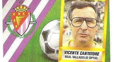 Liga 88-89. Vicente Cantatore (Real Valladolid). Ediciones Este.