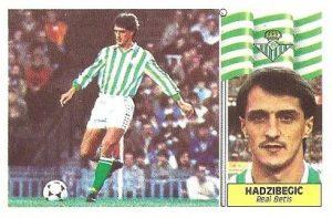 Liga 86-87. Hadžibegić (Real Betis). Ediciones Este.