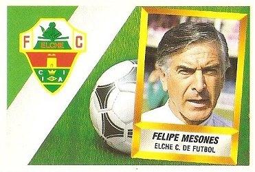 Liga 88-89. Felipe Mesones (Elche C.F.). Ediciones Este.