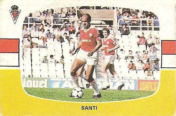 Liga 84-85. Santi (Real Murcia). Cromos Cano.