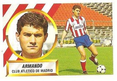 Liga 88-89. Armando (Atlético de Madrid). Ediciones Este.