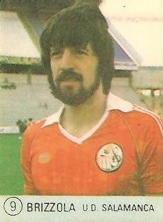 1983 Selección de Fútbol Liga Española. Brizzola (U.D. Salamanca). Editorial Mateo Mirete.