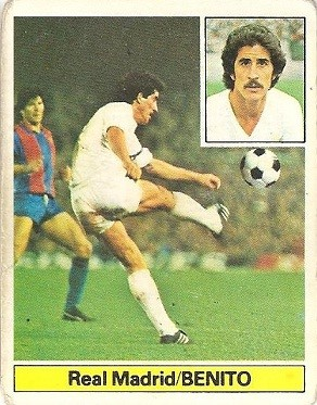 Liga 81-82. Benito (Real Madrid). Ediciones Este.