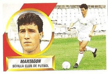 Liga 88-89. Martagón (Sevilla C.F.). Ediciones Este.