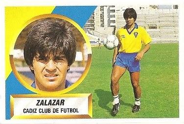 Liga 88-89. Zalazar (Cádiz C.F.). Ediciones Este.