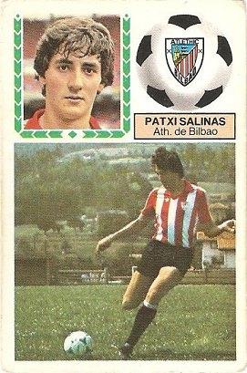 Liga 83-84. Patxi Salinas (Ath. Bilbao). Ediciones Este.