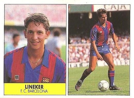 Liga 87-88. Lineker (F.C. Barcelona). Ediciones Festival.