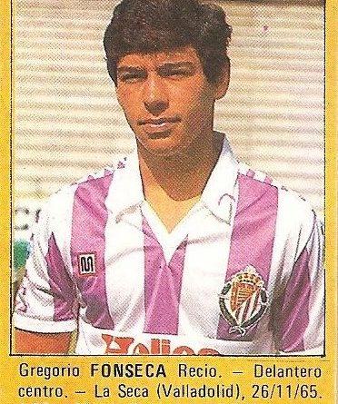 Super Fútbol 85. Fonseca (Real Valladolid). Super Cromos Rollán.