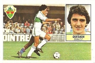 Liga 84-85. Quesada (Elche C.F.) Ediciones Este.
