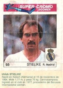 Super Cromos Los Mejores del Mundo (1981). Stielike (Real Madrid). Chicle Fútbol Boomer.