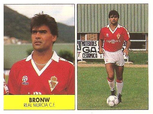 Liga 87-88. Brown (Real Murcia). Ediciones Festival.