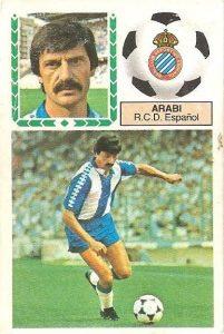 Liga 83-84. Arabi (R.C.D. Español). Ediciones Este.