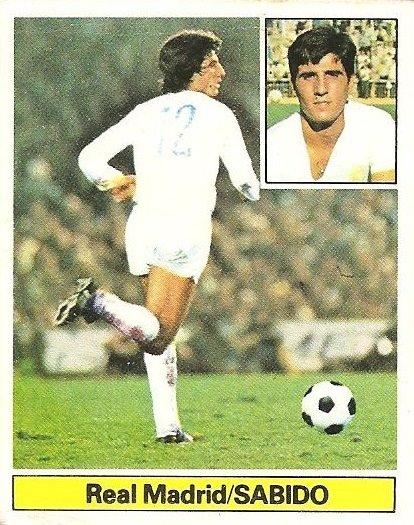 Liga 81-82. Sabido (Real Madrid). Ediciones Este.