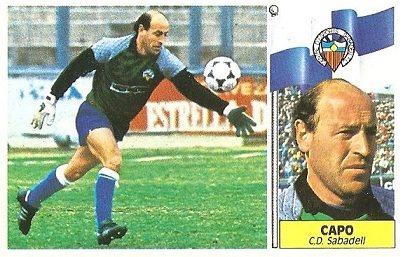 Liga 86-87. Capó (C.D. Sabadell). Ediciones Este.