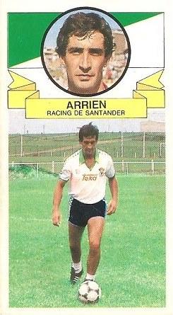 Liga 85-86. Fichaje Nº 13 Arrien (Coloca por Mestre del Hércules C.F.). Ediciones Este.