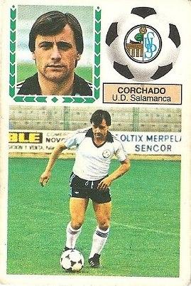 Liga 83-84. Corchado (U.D. Salamanca). Ediciones Este.