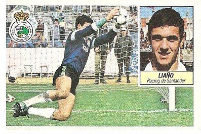 Liga 84-85. Liaño (Racing de Santander). Ediciones Este.