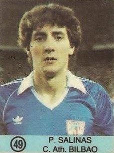 1983-84 Super Campeones. Patxi Salinas (Ath. Bilbao). (Ediciones Gol)