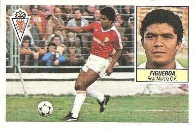Liga 84-85. Figueroa (Real Murcia). Ediciones Este.