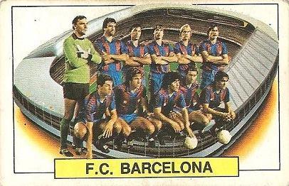 Liga 83-84. Alineación F.C. Barcelona (F.C. Barcelona). Ediciones Este.