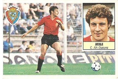 Liga 84-85. Mina (Club Atlético Osasuna). Ediciones Este.
