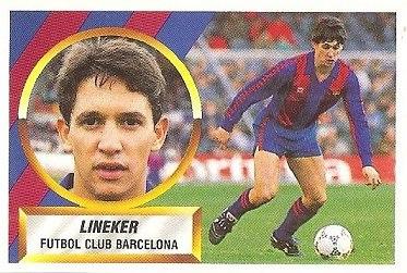 Liga 88-89. Lineker (F.C. Barcelona). Ediciones Este.