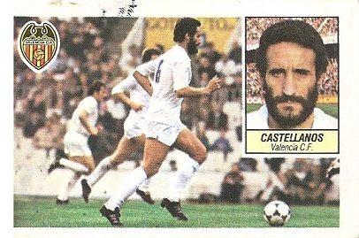 Liga 84-85. Castellanos (Valencia C.F.). Ediciones Este.